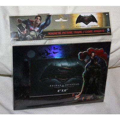 "Disney BATMAN v SUPERMAN Iridescence Magnetic Picture Frame Stand Holds 4"" X 6"""