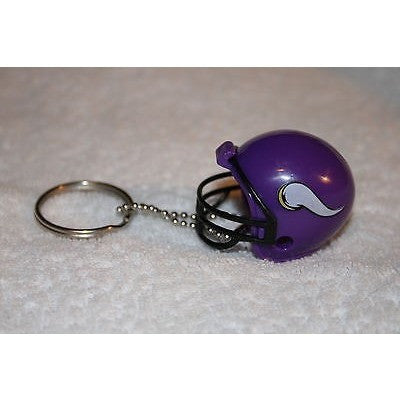 "NFL Minnesota Vikings 1.5"" Mini Plastic Helmet Pencil Topper Key Chain Key Ring"