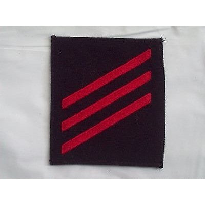 "NAVY Rating Patch USN E-3 Rank FN Fireman Summer Dress Black 3 1/8"" by 3 3/8"""
