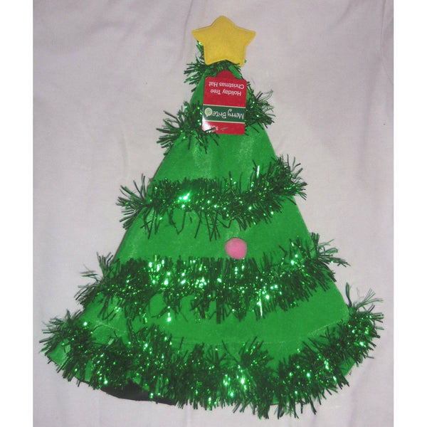 "Christmas Tree Santa Hat with Garland 18"" Tall by Merry Brite"