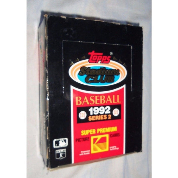 1992 MLB Topps Stadium Club Baseball Series 2 Box of 24 Wax Packs 15 Cards Per Pack