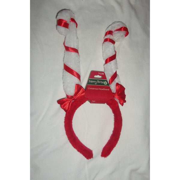 Merry Brite Christmas Striped Candy Cane Headband