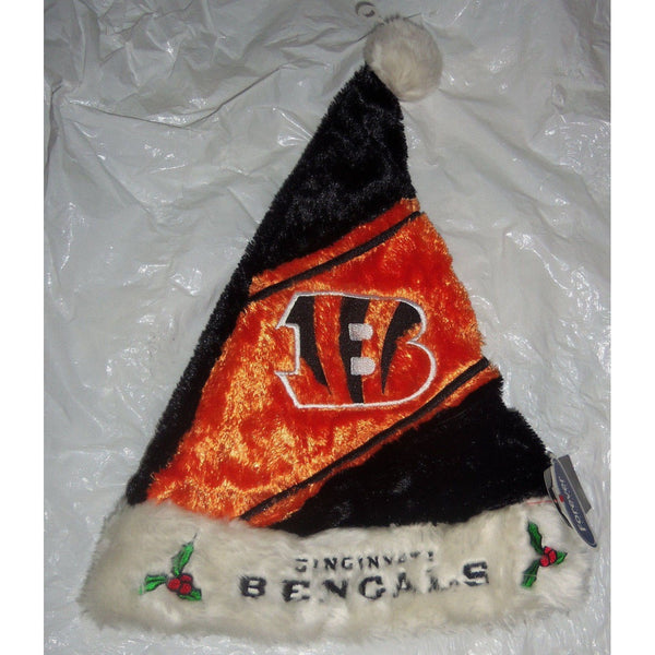 "NFL Cincinnati Bengals Plush Himo Fuzy Embroidered 18"" Tall Santa Hat"