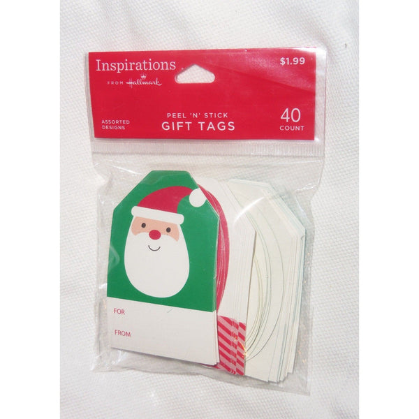 40 Inspirations from Hallmark peel n stick Assorted Christmas Gift Tags Santa