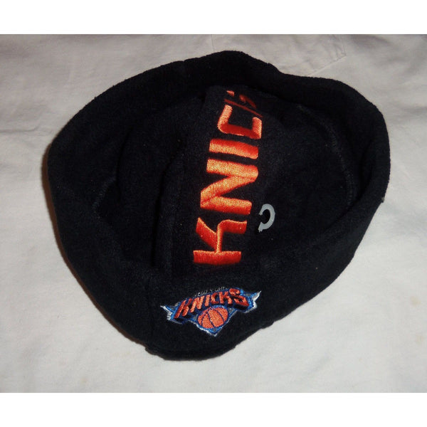 Black NBA New York Knicks Fleece Beanie Skully Cap Acrylic One Size Fits Must