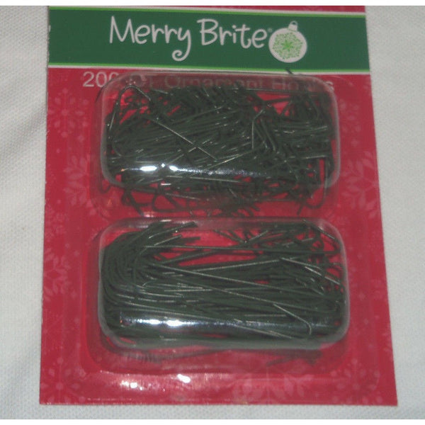 "Merry Brite 200CT Green Christmas Ornament Hooks Assorted 1-3/8"" (125CT) & 2-1/2"" (75CT)"