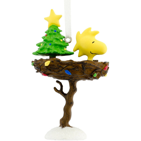 Hallmark 2016 Peanuts Woodstock in Birdbath Nest Christmas Ornament
