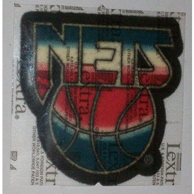 "NBA New Jersey Nets 3"" 1990/91-1996/97 Logo on Black LEXTRA Iron-on Patch"
