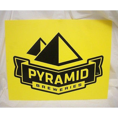 "Pyramid Breweries Yellow Plastic Pub Beer 15.5"" by 12.25 Sign"