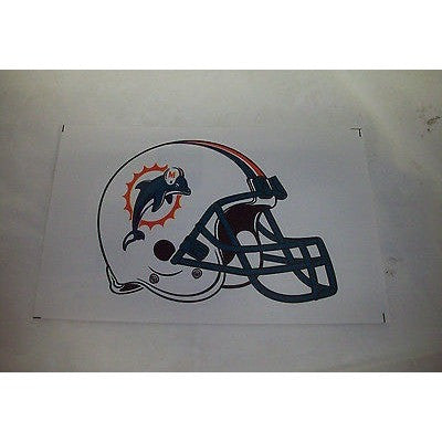 2 NFL Miami Dolphins Team Logo on Helmet Shaped Paper Sticker #17