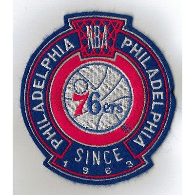 "NBA Philadelphia 76ers 78-97 Logo in 4"" Crest Embroidered NON Iron-on Patch"