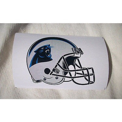 2 NFL Carolina Panthers Paper Stickers Team Logo on Helmet Shaped #5