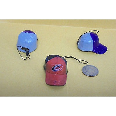 "NHL Carolina Hurricanes Key Chain Key Ring Keyring 2"" Mini Hat 2-Tone Plastic Cap"