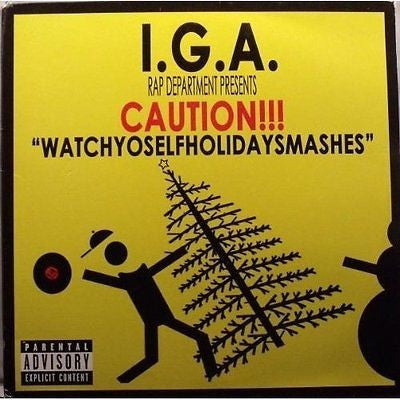 "NEW Caution!!! ""Watchyoselfholidaysmashes"" Double LP, Explicit Lyrics, Compilation"