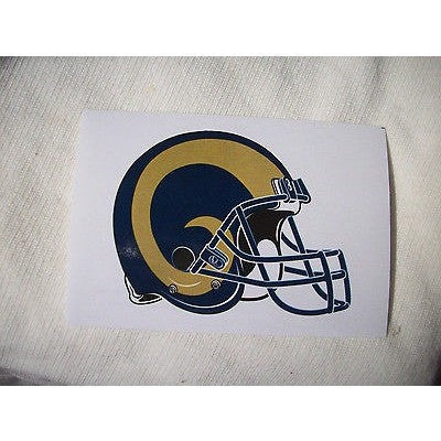 2 NFL Los Angeles Rams Team Logo Helmet Shaped Paper Stickers #26
