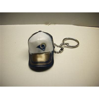 "NFL Los Angeles Rams Key Chain Key Ring Keyring 2"" Mini Hat 2-Tone Plastic Cap"