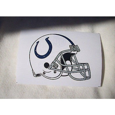 2 NFL Indianapolis Colts Team Logo on Helmet Shaped Paper Sticker #14