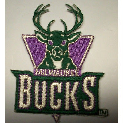"NBA Milwaukee Bucks 2.25"" Wide 1987/88-1996/97 Logo Embroidered Iron-on Patch"