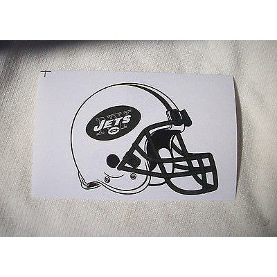 2 NFL New York Jets Team Logo Helmet Shaped Paper Sticker #22