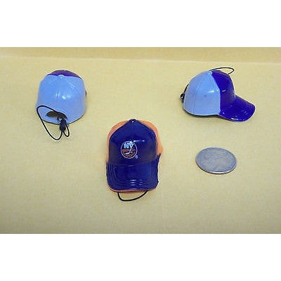 "NHL New York Islanders Key Chain Key Ring Keyring 2"" Mini Hat 2-Tone Plastic Cap"