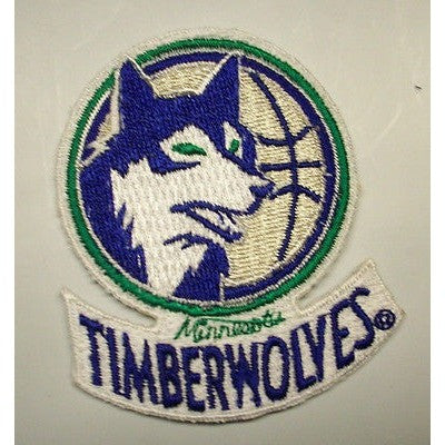 "NBA Minnesota Timberwolves 2"" 1989/90-1995/96 Logo Embroidered Iron-on Patch"