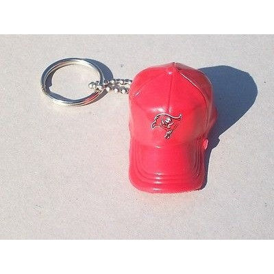 "NFL Tampa Bay Buccaneers Key chain Key Ring Keyring 2"" Mini Hat Solid Color Plastic Cap"