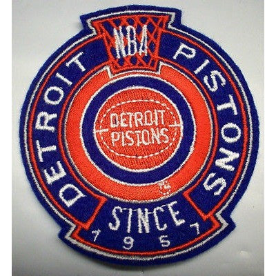 "NBA Detroit Pistons 1979/80-1995/96 Logo in 3 1/4"" Crest NON Iron-on Patch"