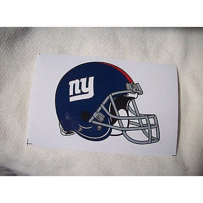 2 NFL New York Giants Team Logo Helmet Shaped Paper Sticker #21