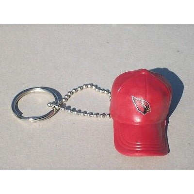 "NFL Arizona Cardinals Key chain Key Ring Keyring 2"" Mini Hat Solid Color Plastic Cap"