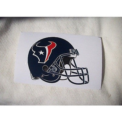 2 NFL Houston Texans Paper Stickers Team Logo on Helmet Shaped #13