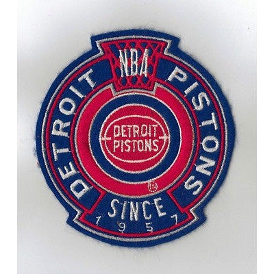 "NBA Detroit Pistons 1979/80-1995/96 Logo in 4 3/8"" Crest NON Iron-on Patch"