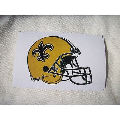 2 NFL New Orleans Saints Team Logo on Gold Shaped Helmet  Paper Sticker #20