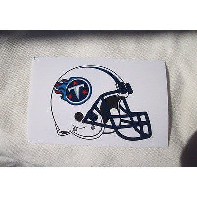 2 NFL Tennessee Titans Team Logo Helmet Shaped Paper Sticker #31