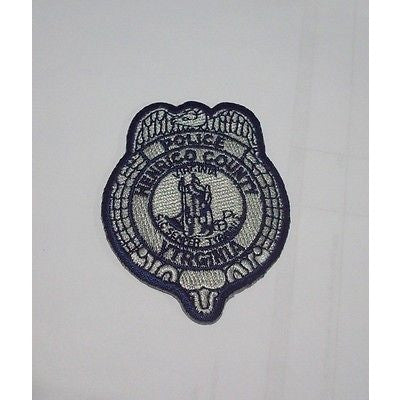 "Henrico County Virginia Police 2 1/4"" x 2 7/8"" Embroidered Iron On Hat Patch"