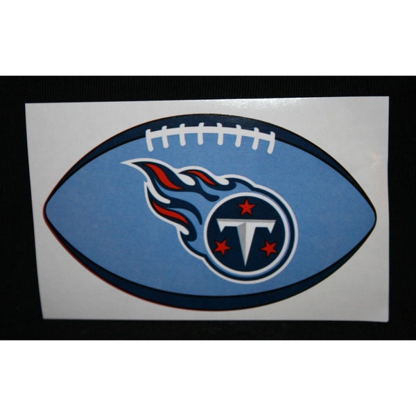 "NFL Tennessee Titans Team Color Logo on 4 3/8"" Oval Paper Sticker #31 OF 32"