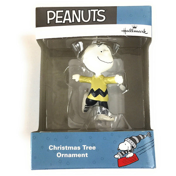 Hallmark Peanuts Winter Fun Charlie Brown Ice Skating Ornament 2017