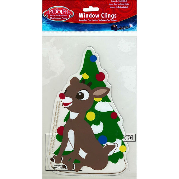 "Rudolph the Red-Nosed Reindeer Gel Window Cling by Product Works 5""x7"""