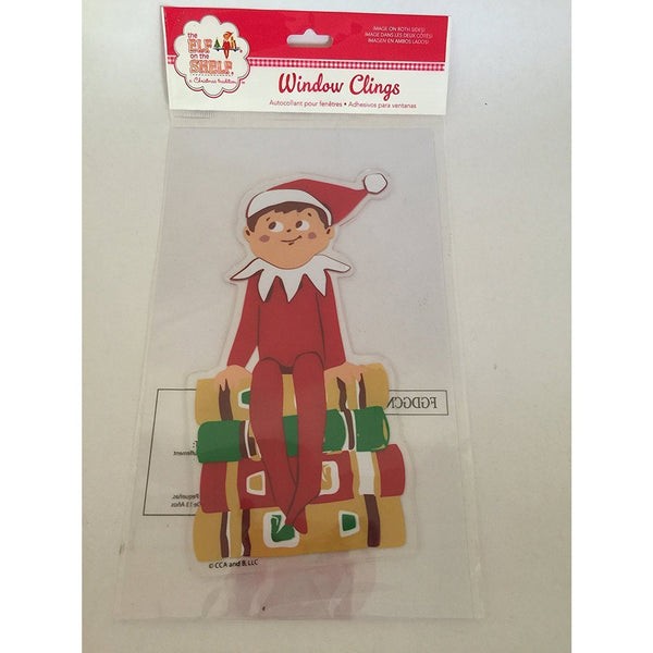 "the Elf on the Shelf On Books Gel Window Cling by Product Works 4""x7"""
