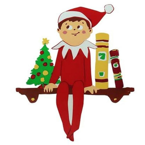 "the Elf on the Shelf Gel Window Cling by Product Works 5""x5"""