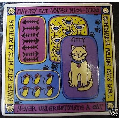 "Hot Plate ""Never Underestimate a Cat"" & Various Quotes"