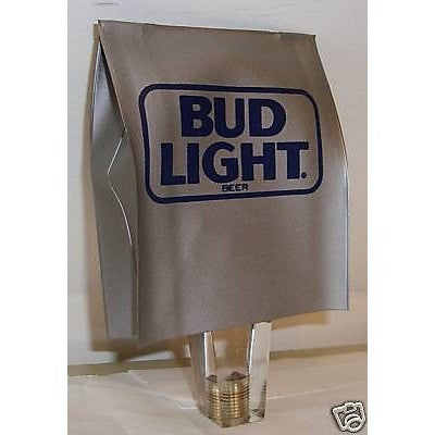 Bud Light Silver/Grey with Blue Logo Vinyl Tap Knob Cover NO TAP HANDLE INCLUDED
