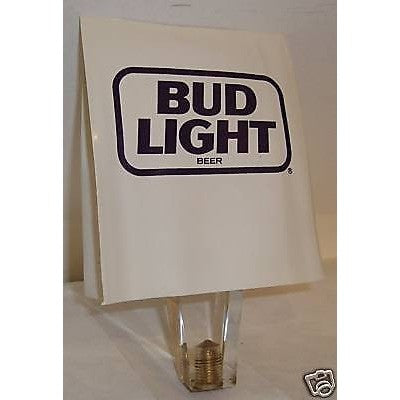 Bud Light White Vinyl Tap Knob Cover NO TAP HANDLE INCLUDED