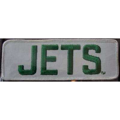 "NFL New York Jets 6"" Name Embroidered Iron-on Patch"