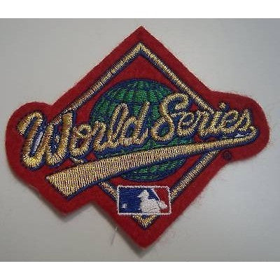 MLB World Series Embroidered on Red Felt Patch