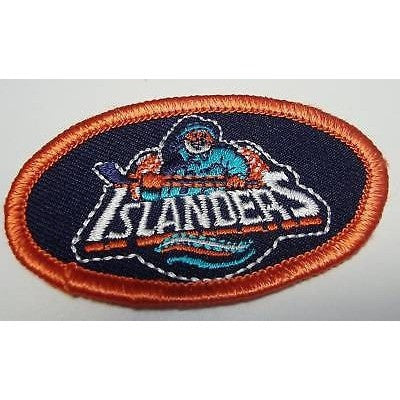 "NHL New York Islanders 2 5/8"" OldLogo Oval Ironon Patch"