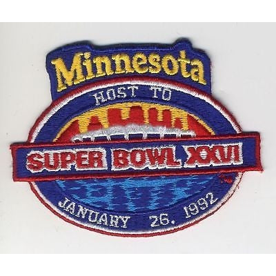"NFL Super Bowl XXVI 3.75"" Embroidered Iron-on Patch"