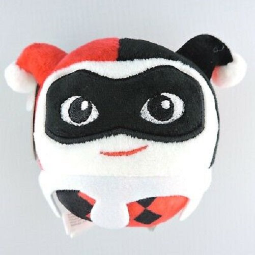 "Hallmark Fluffball Harley Quinn Plush Stuffed Christmas Ornament 4"" Diameter"