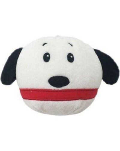 "Hallmark Fluffballs Peanuts Snoopy Plush Stuffed Christmas Ornament 4"" Diameter"
