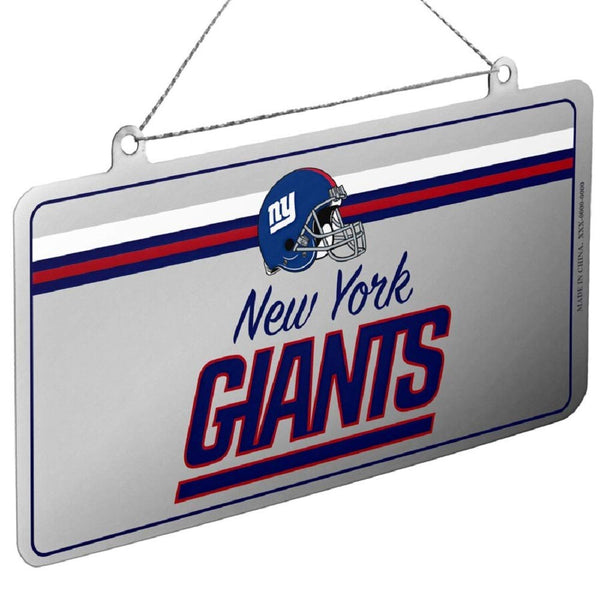 NFL New York Giants Metal License Plate Christmas Ornament by FOCO