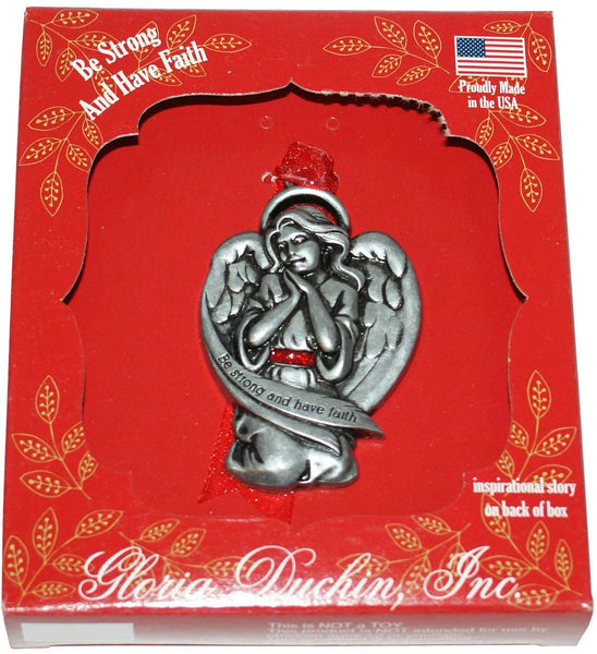 Be Strong and have Faith Angel Tree Ornament by Gloria Duchin, Inc